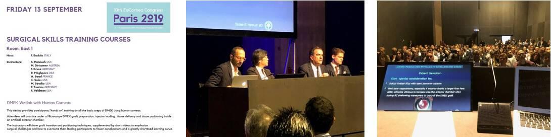 Il dott. Badalà al Congresso EUcornea 2019 di Parigi