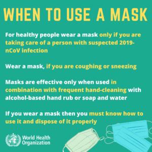 Per il Coronavirus è necessario indossare la mascherina?